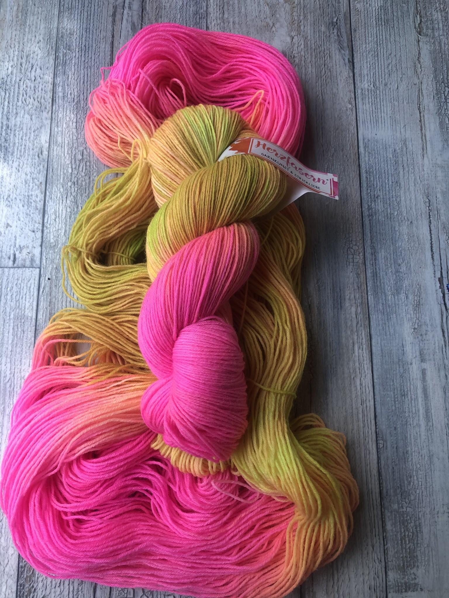 Herzfasern Sockenwolle -Wundertüte