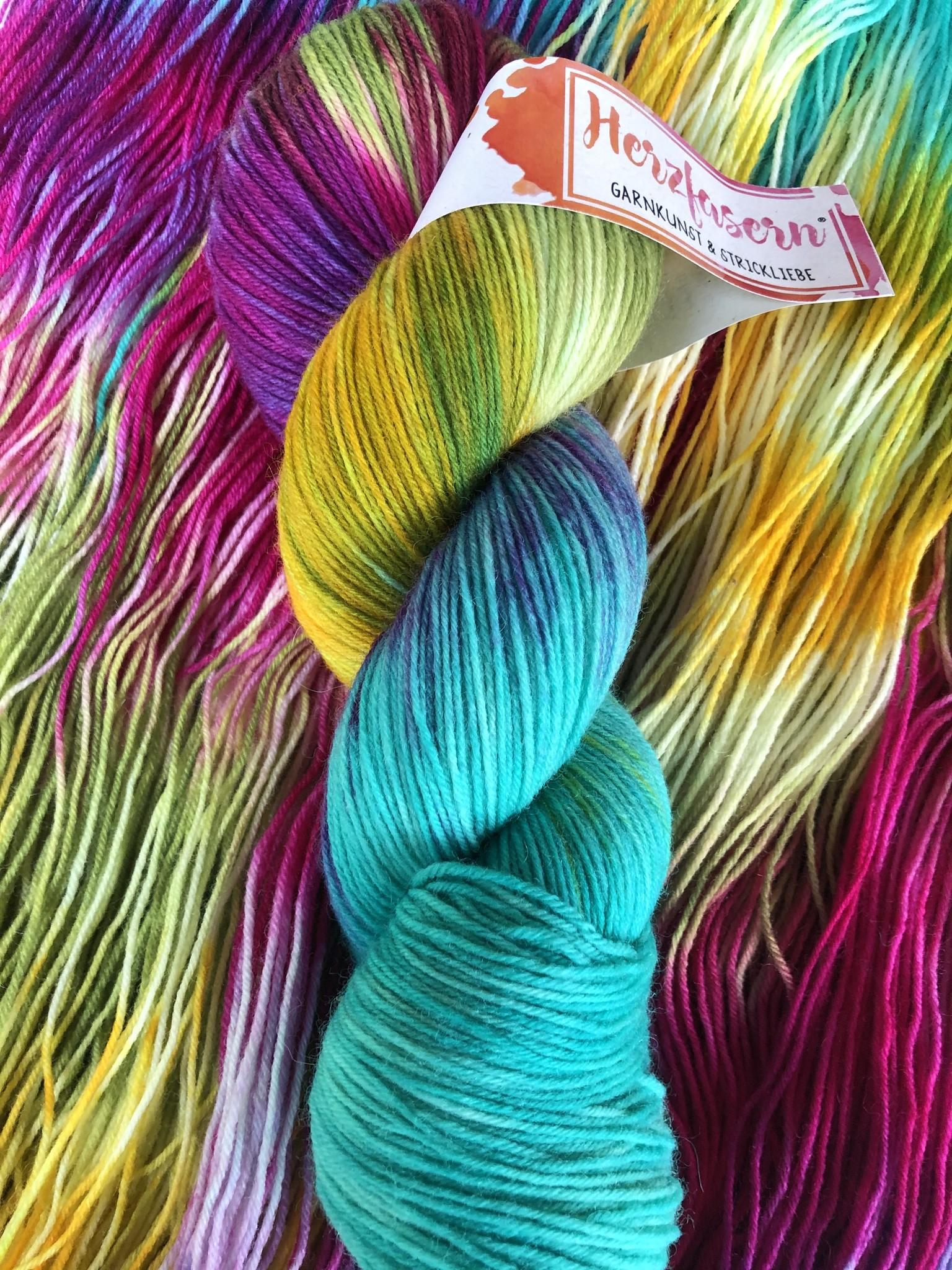 Herzfasern Sockenwolle - Hawaii