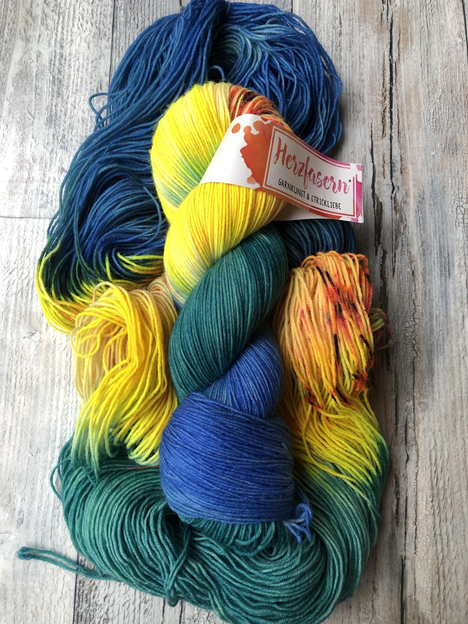 Herzfasern Sockenwolle - Regenwald