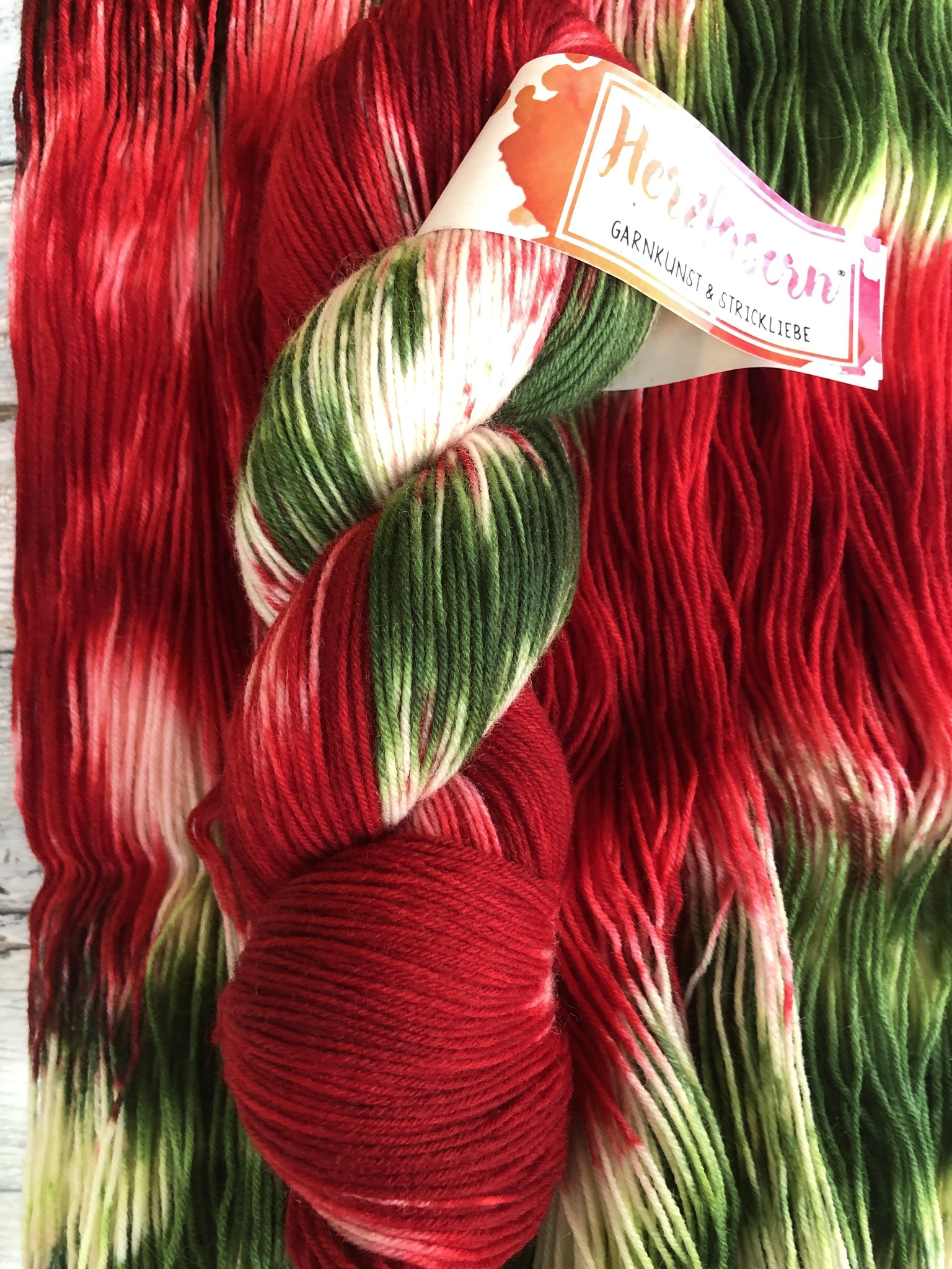 Herzfasern Sockenwolle - Christmas Day