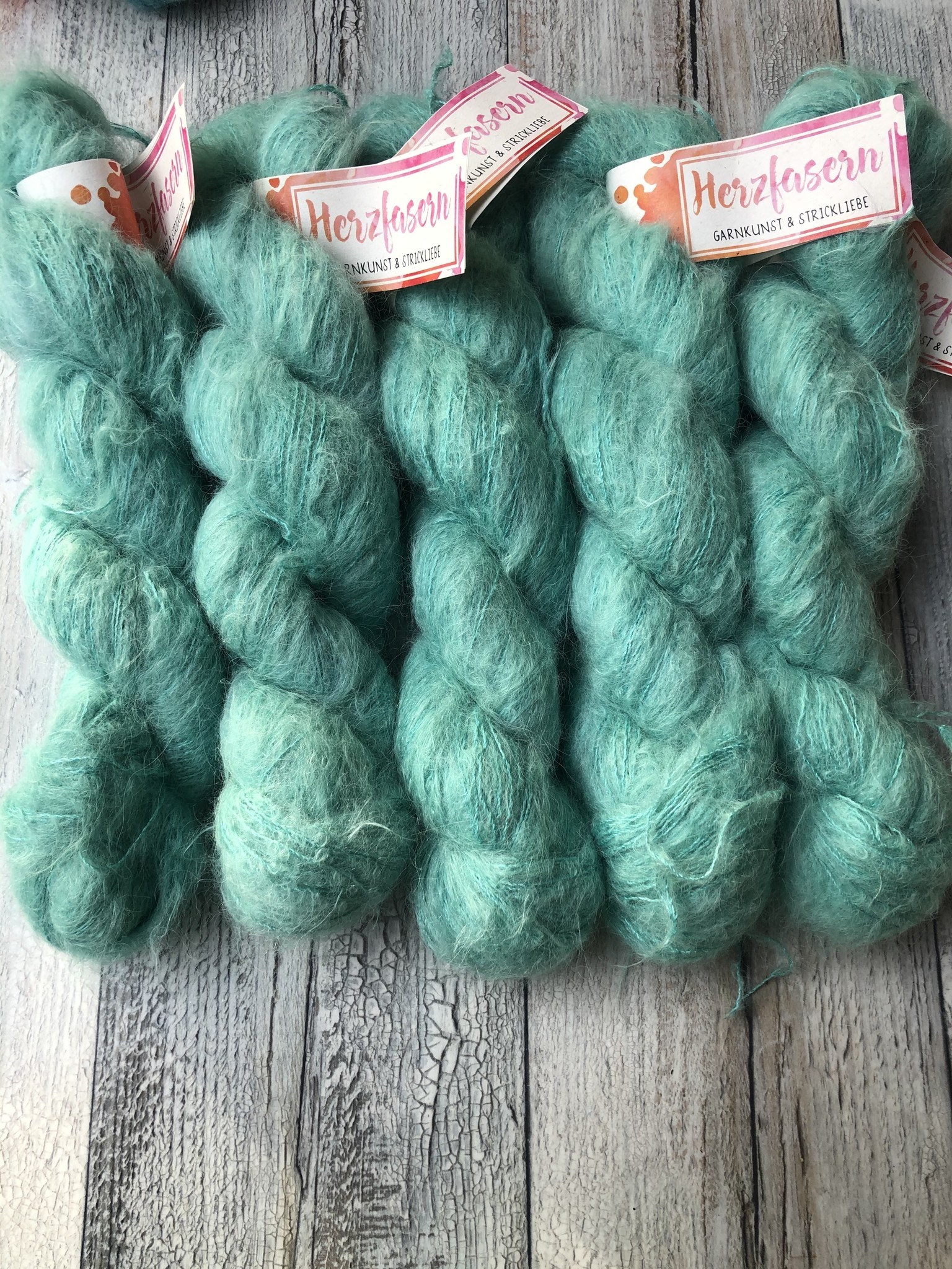 Herzfasern Suri  Alpaca Jade