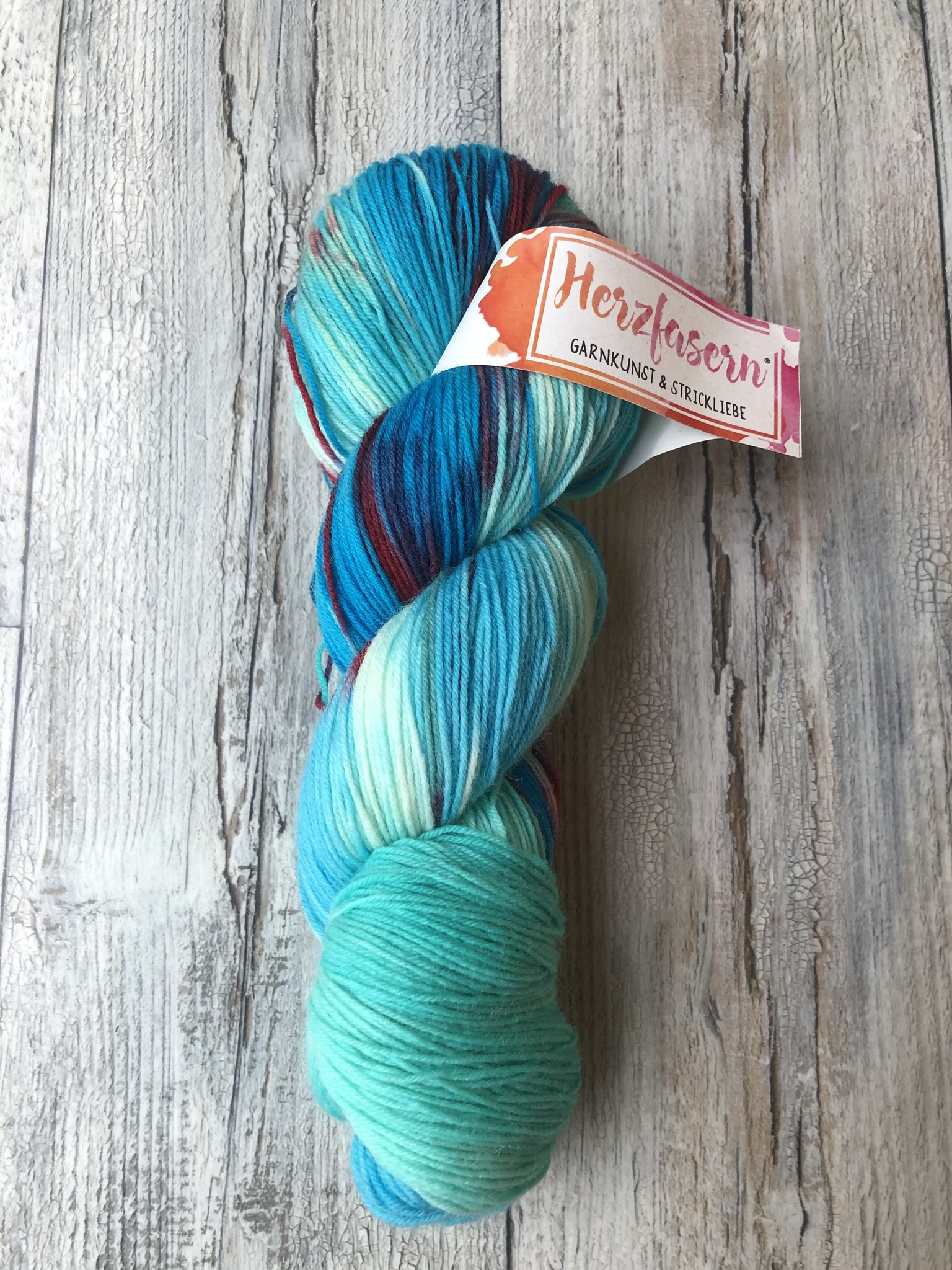 Herzfasern Sockenwolle -Laguna