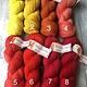 Herzfasern  Merino 190 -Semisolide Färbungen