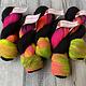 Herzfasern Herzfaser No 22 - Sockenwolle 4-fach  mit recyceltem Polyamid-muselingfrei Mr. Gray and Neon
