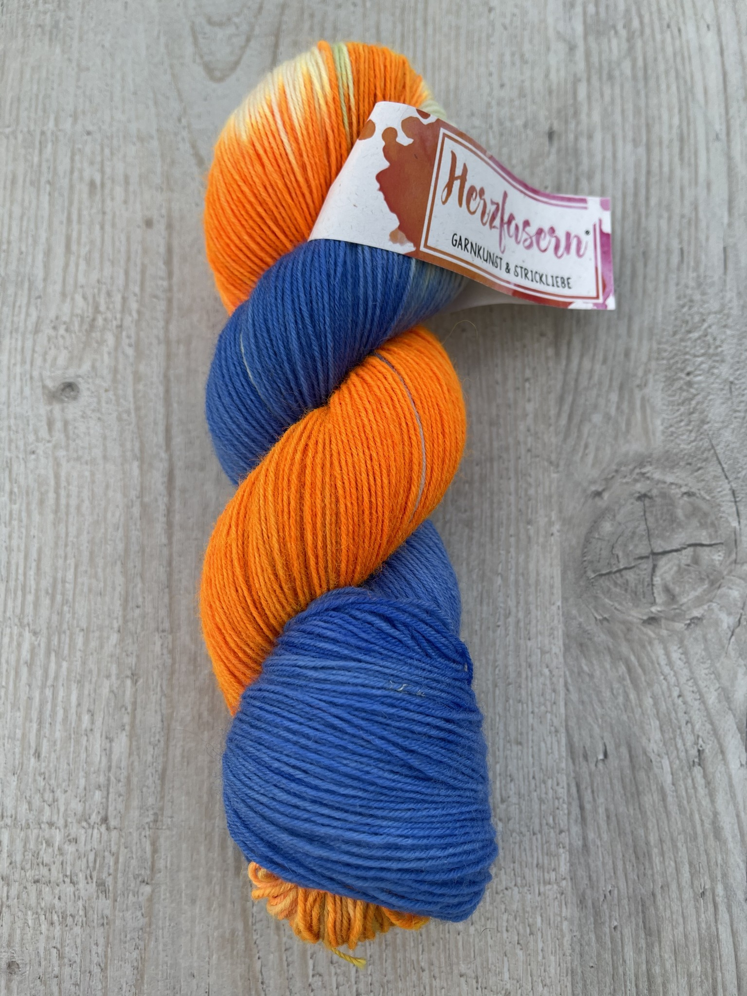Herzfasern Sockenwolle -Sun-Set