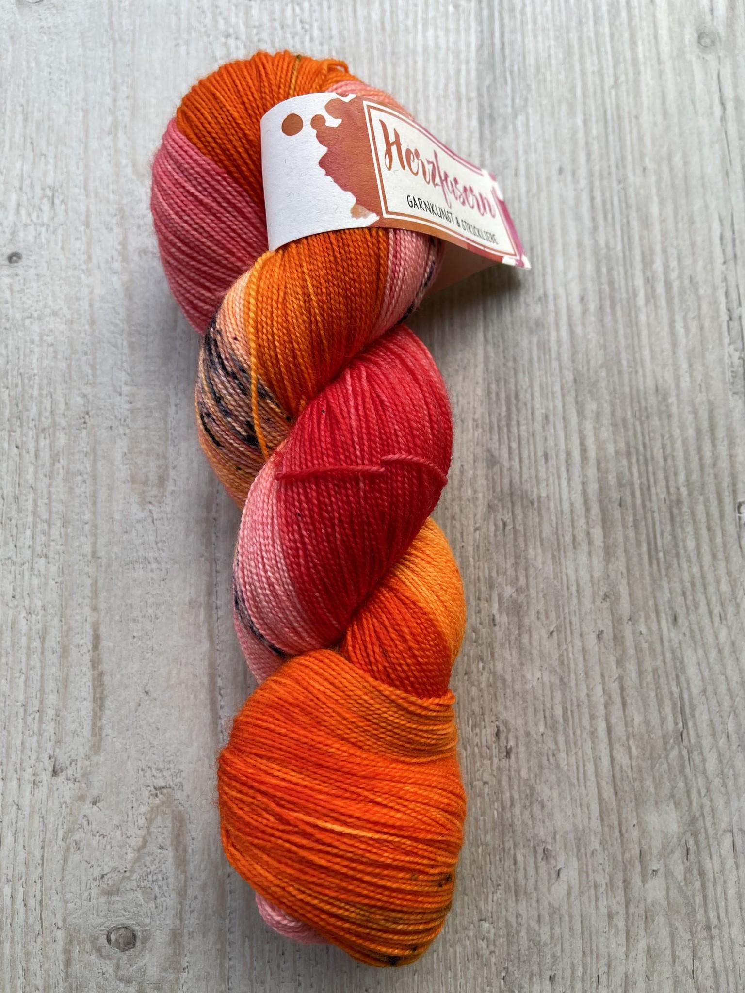 Herzfasern Lace Merino 600 - Indisch Orange