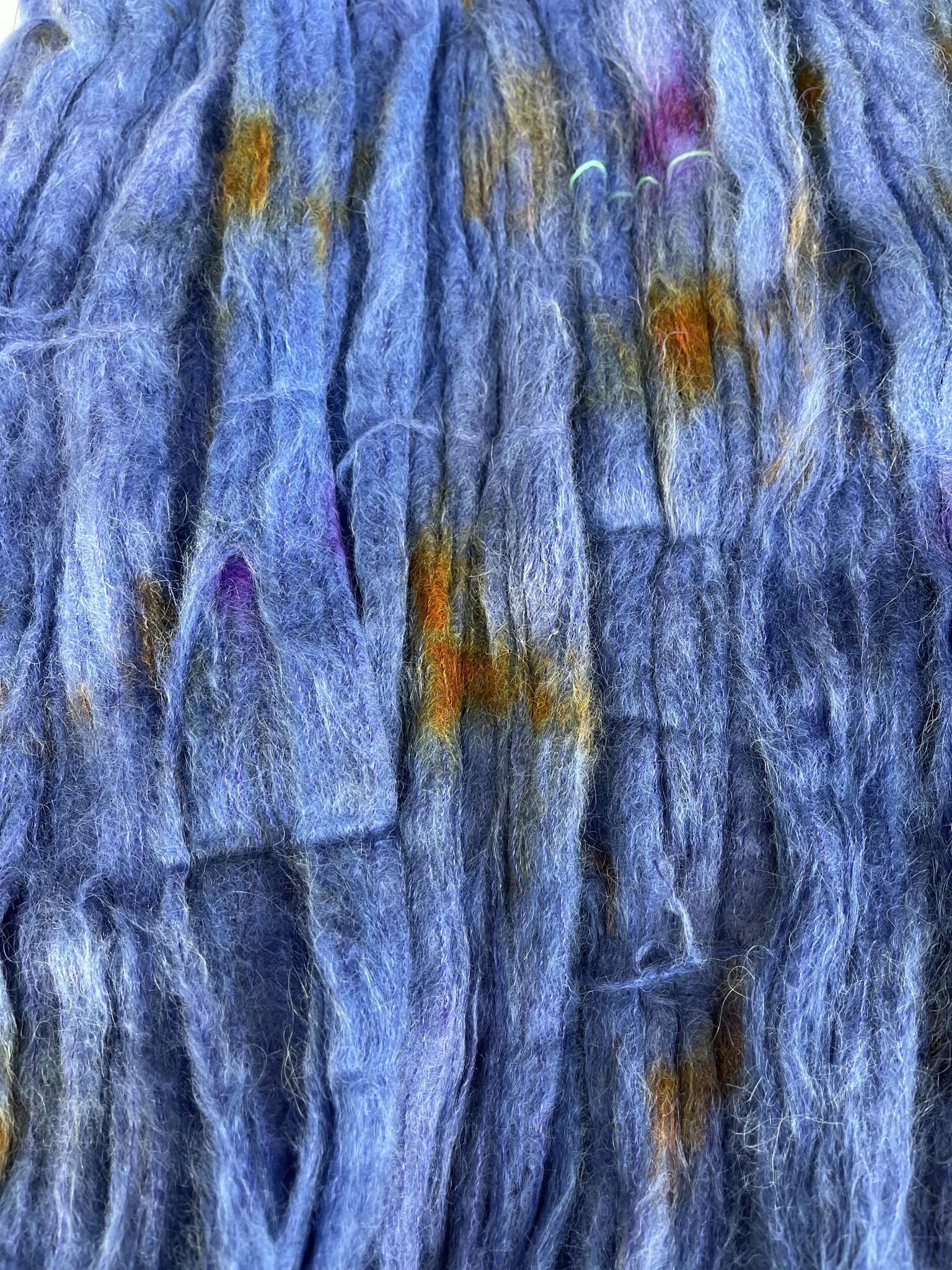 Herzfasern Suri  Alpaca Royalblau gespr.