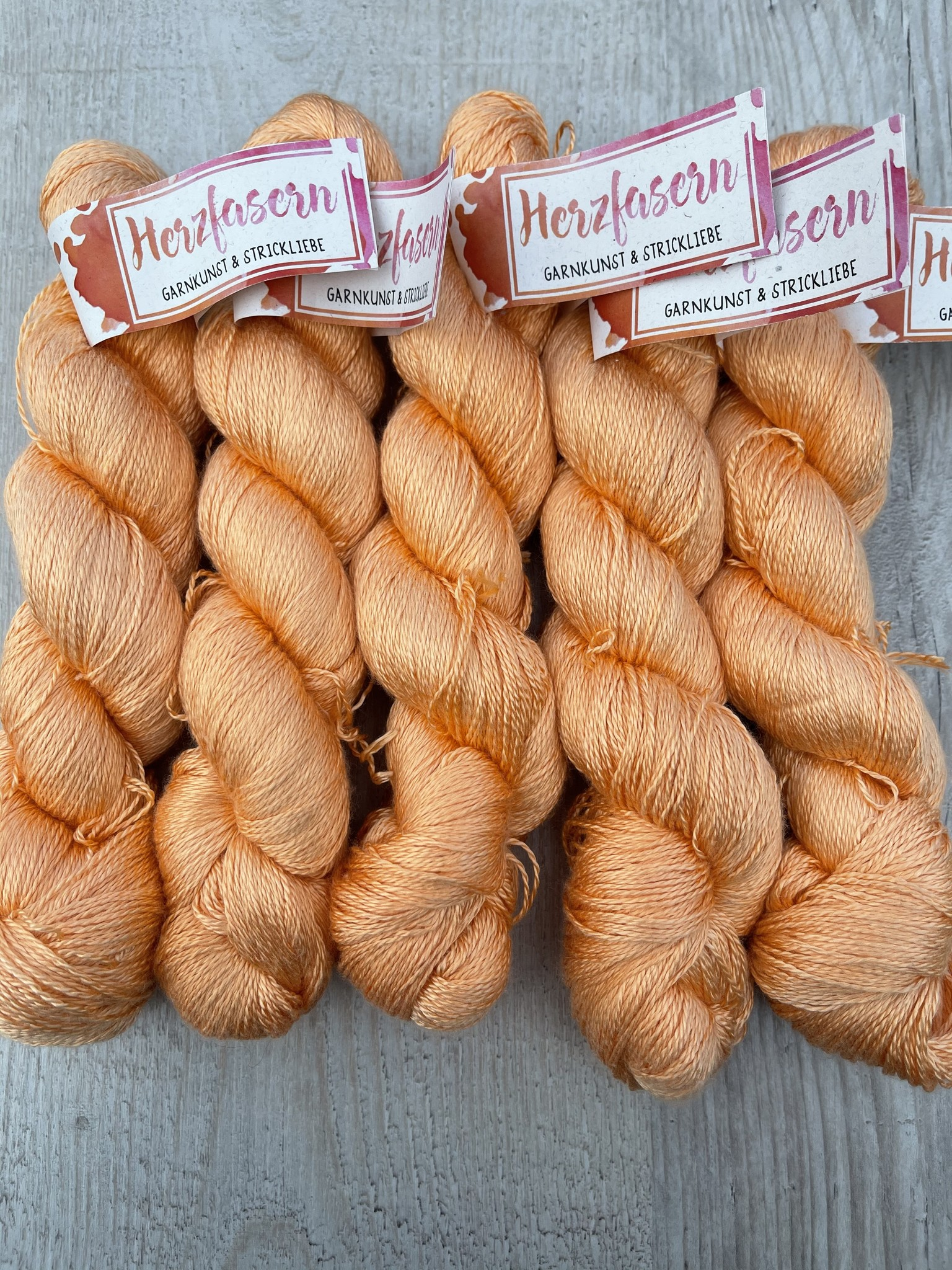 Herzfasern Seide Lace - Peach