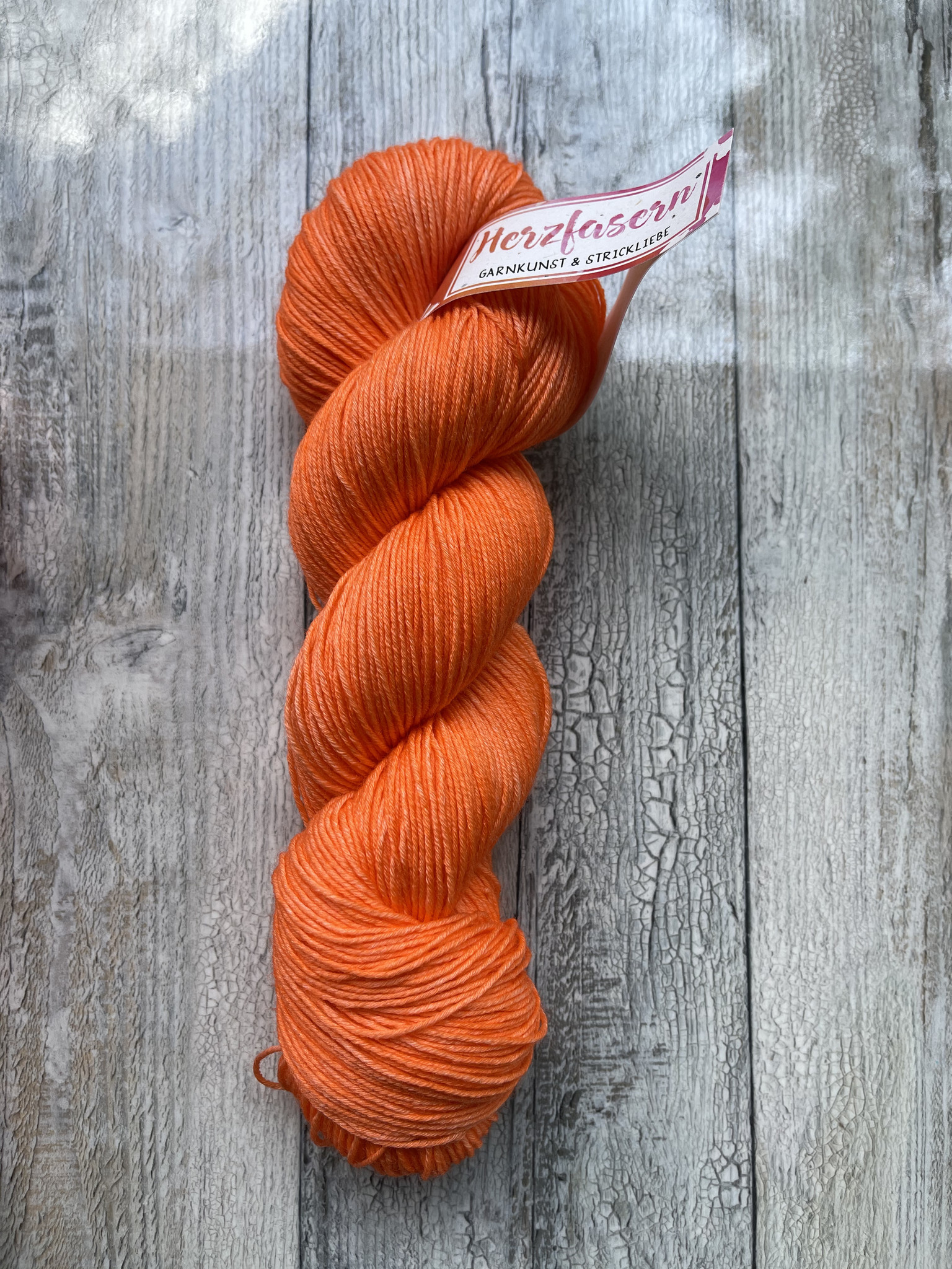 Herzfasern Merino/Seide - Orange