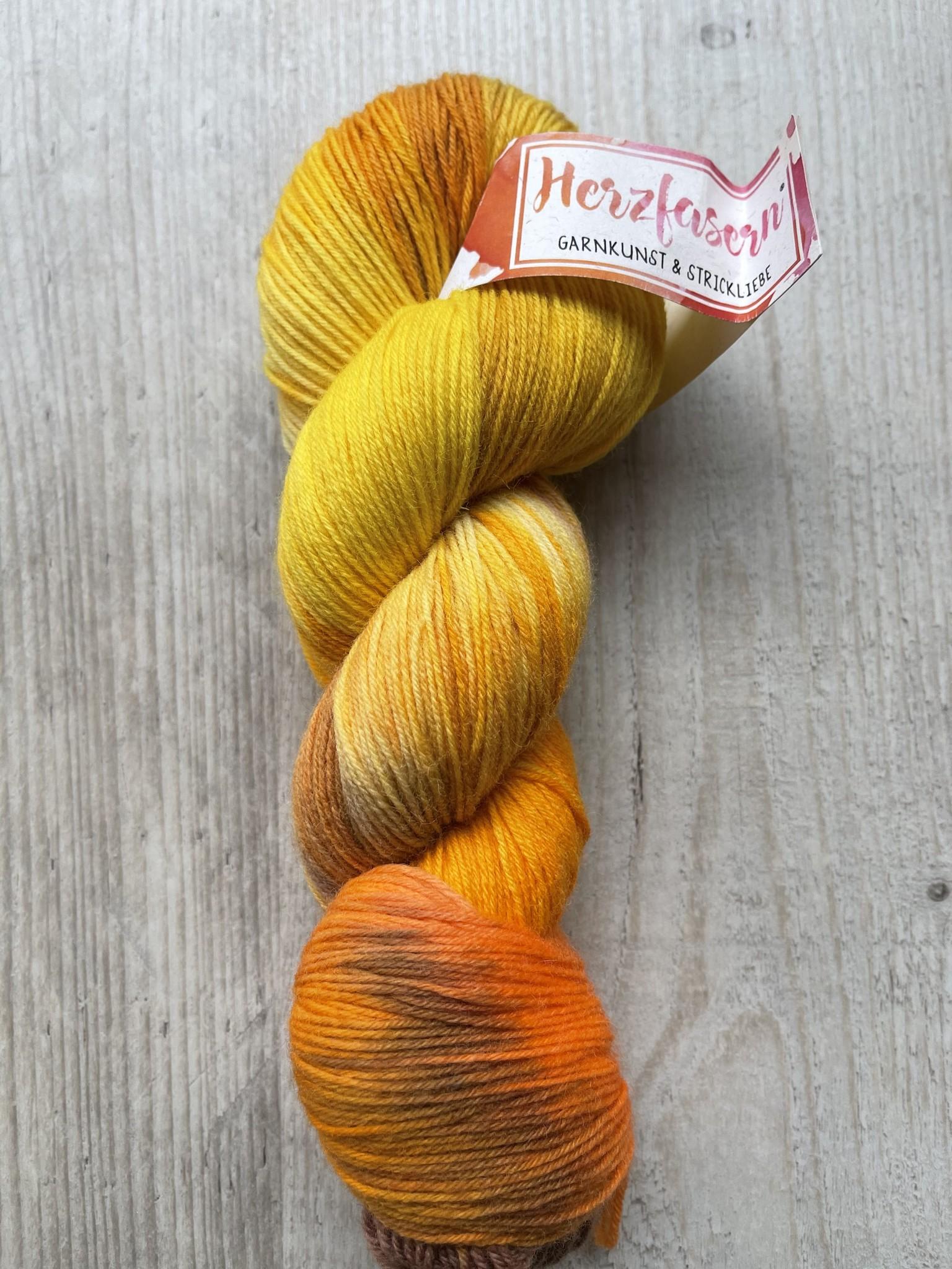 Herzfasern Sockenwolle -Herbstlaune
