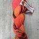 Herzfasern Sockenwolle -Orangen Madley