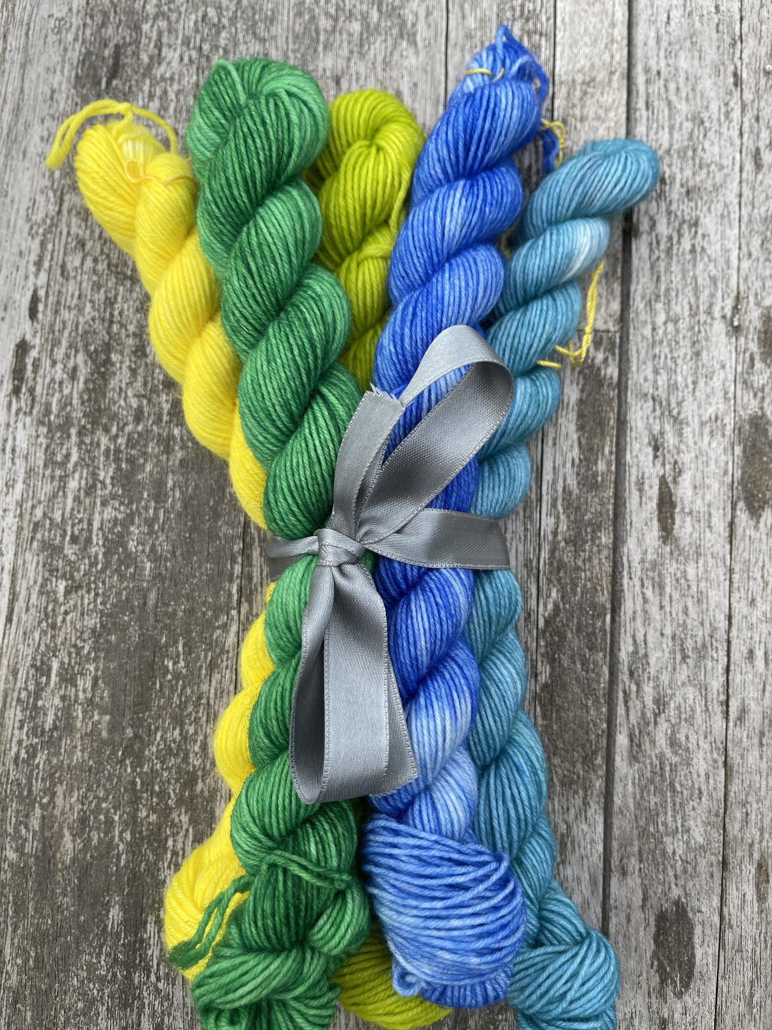 Herzfasern Sockenwolle -Mini Set Frühling 5