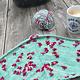 Herzfasern  Merino 400   Flowers Grau