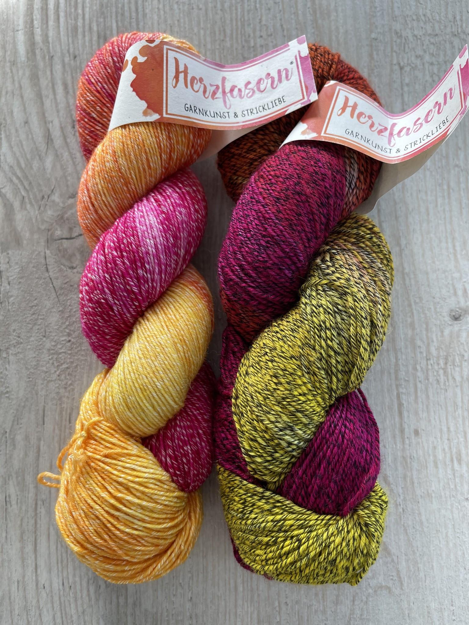 Sockenwolle mit Baumwollanteil -Liebesgeknister