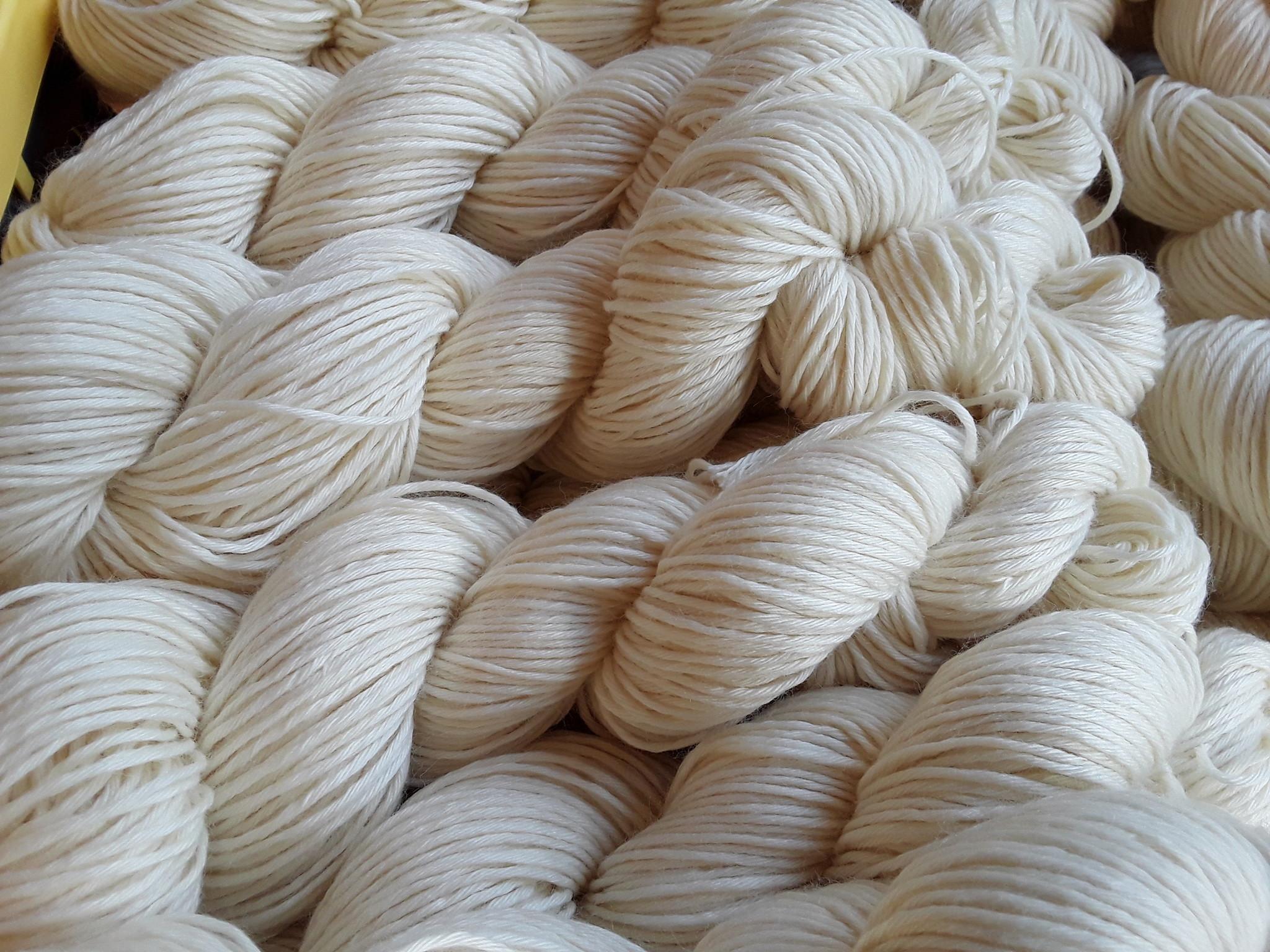 Färbeware Sockenwolle 4-fach  - mit recyceltem Polyamida 500g
