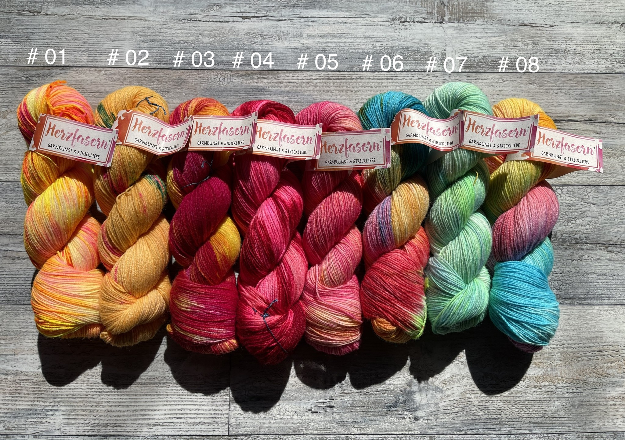 Herzfasern Sockenwolle - Wunschpaket aus unserer Frü-So Kollektion - Copy