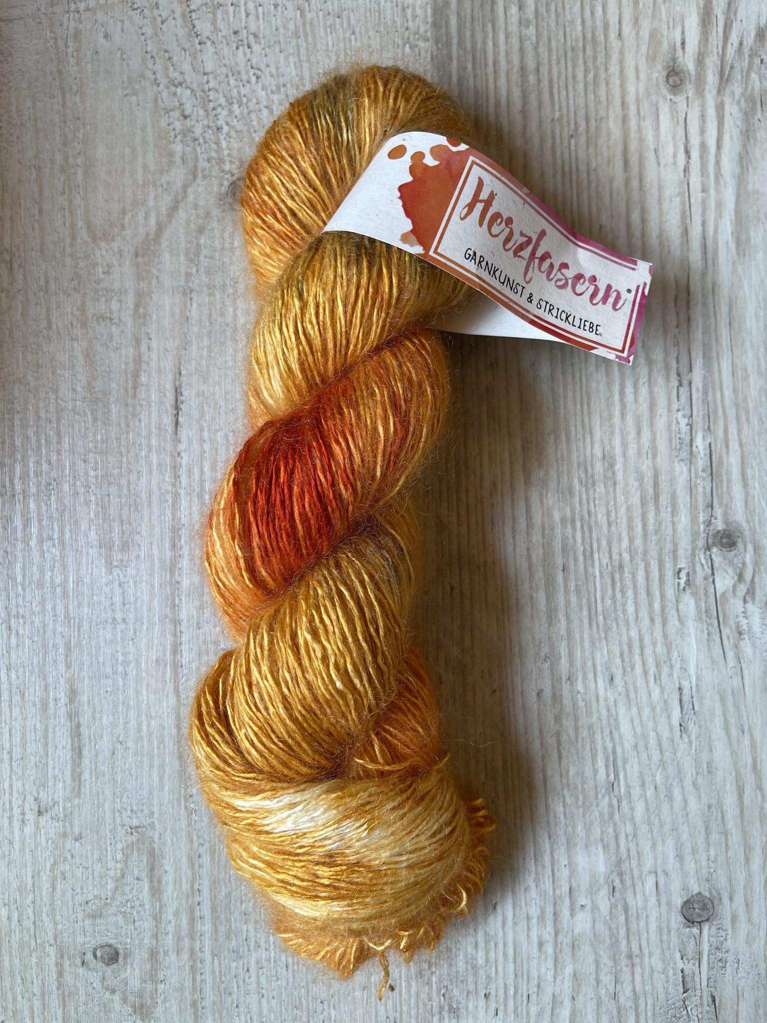 Seide/Mohair -Golden Orange- Sale