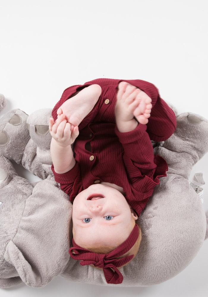 Jumpsuit Lorelai Bordeaux Rood