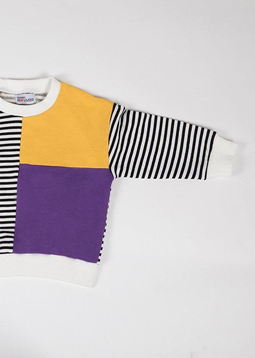 Sunny Novmbr Sweater Eleven Paars/Geel