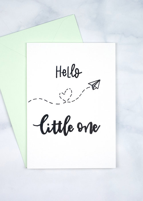 Witty Ink Kaart - Hello Little One