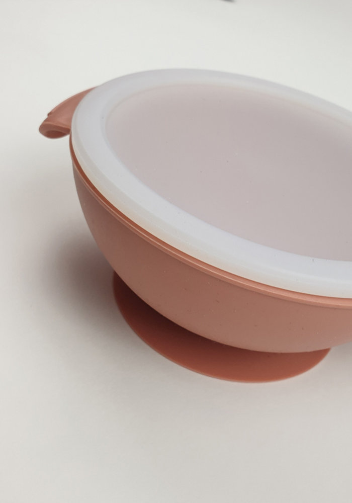 Siliconen Kom met Zuignap Zalm Roze (BPA vrij)