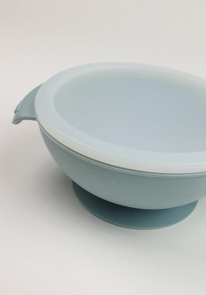 Siliconen Kom met Zuignap Zacht Blauw (BPA vrij)