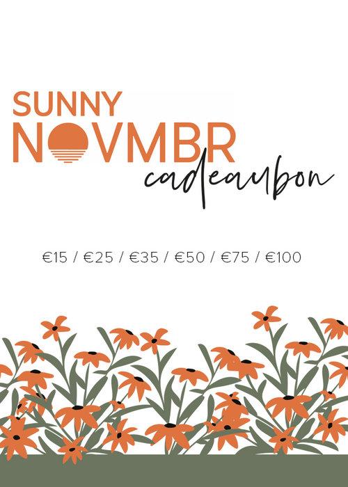 Sunny Novmbr Sunny Novmbr Cadeaubon - Fysieke bon 15-100 euro