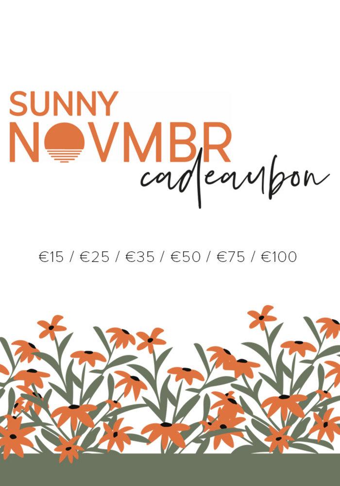 Sunny Novmbr Cadeaubon - Digitale bon 15-100 euro