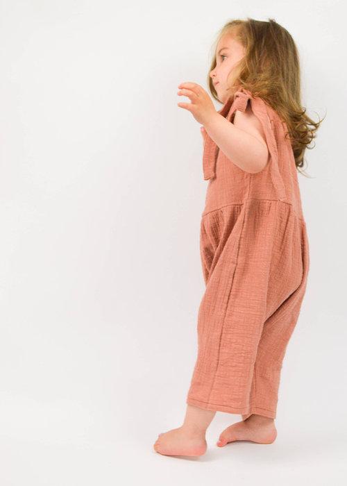 Sunny Novmbr Linnen Jumpsuit Jessy  Oud Roze