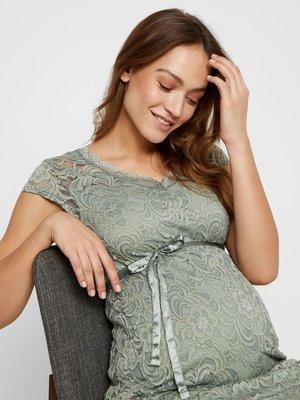 Mamalicious zwangerschapsjurk mivana kant green milieu
