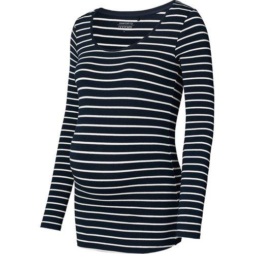 Noppies zwangerschapslongsleeve bretonse streep blauw/wit