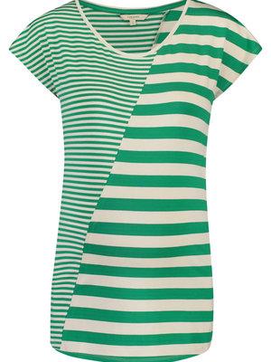 Noppies zwangerschapstop bretonse streep groen/wit