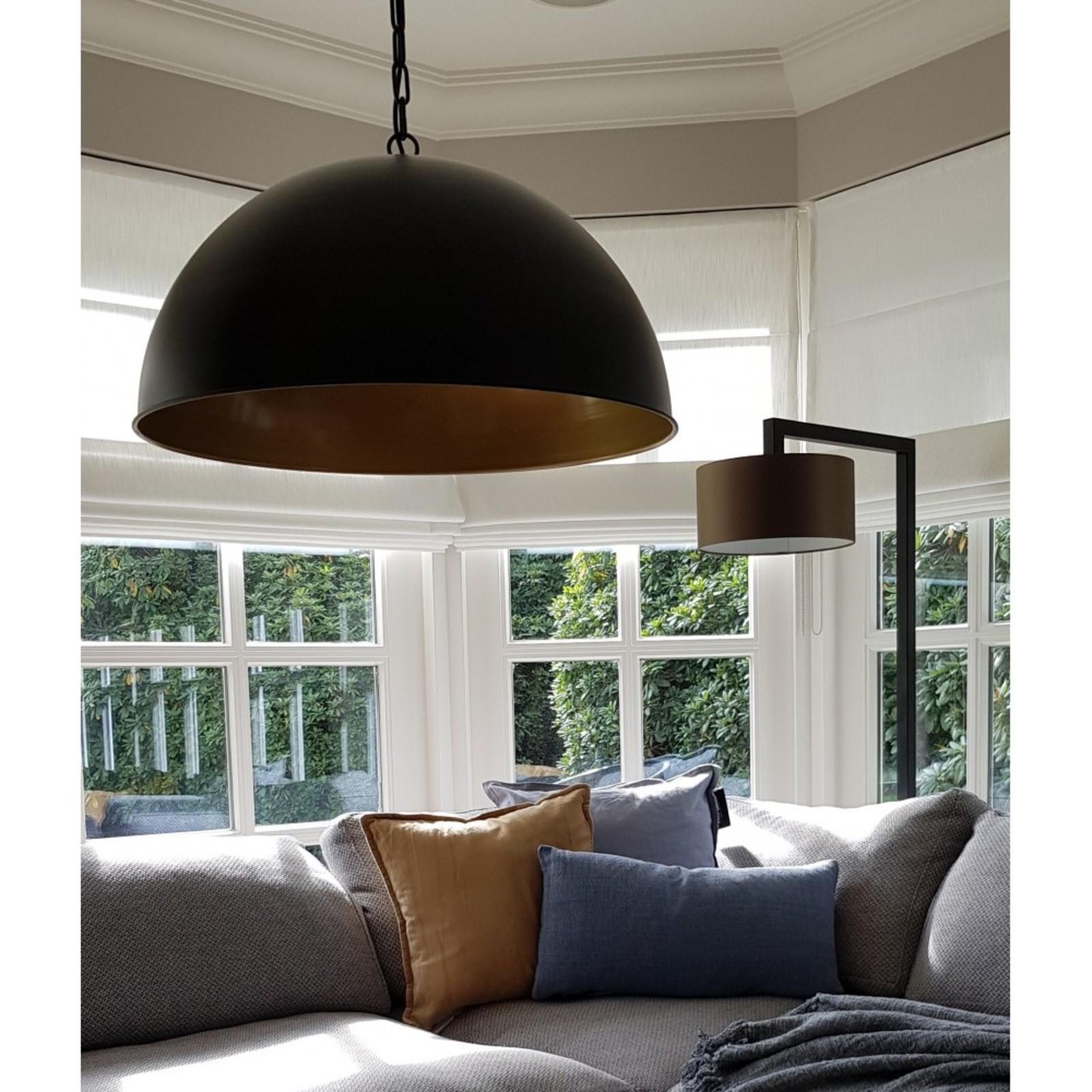 Luksa hanglamp Femke zwart met goud 60 cm