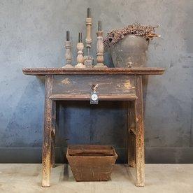 Luksa Antiek houten wandtafel met 1 lade