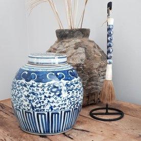 Luksa Antieke blauwe pot