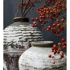 Luksa antieke olijfpot white wash