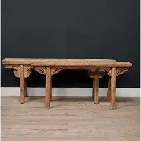 Luksa Exlusief antiek houten bankje