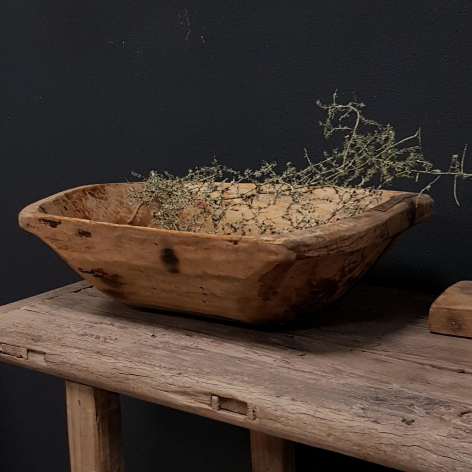 Luksa oud uniek houten basin