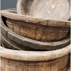 Luksa Oude houten bak rond