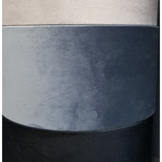 Luksa Kap cilinder Velvet blauw VEL48