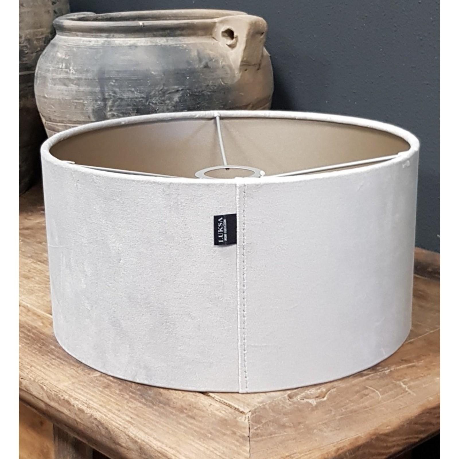 Luksa Kap cilinder Velvet grijs VEL27