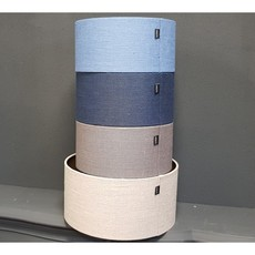 Luksa Kap cilinder Linnen L. blauw LIN55