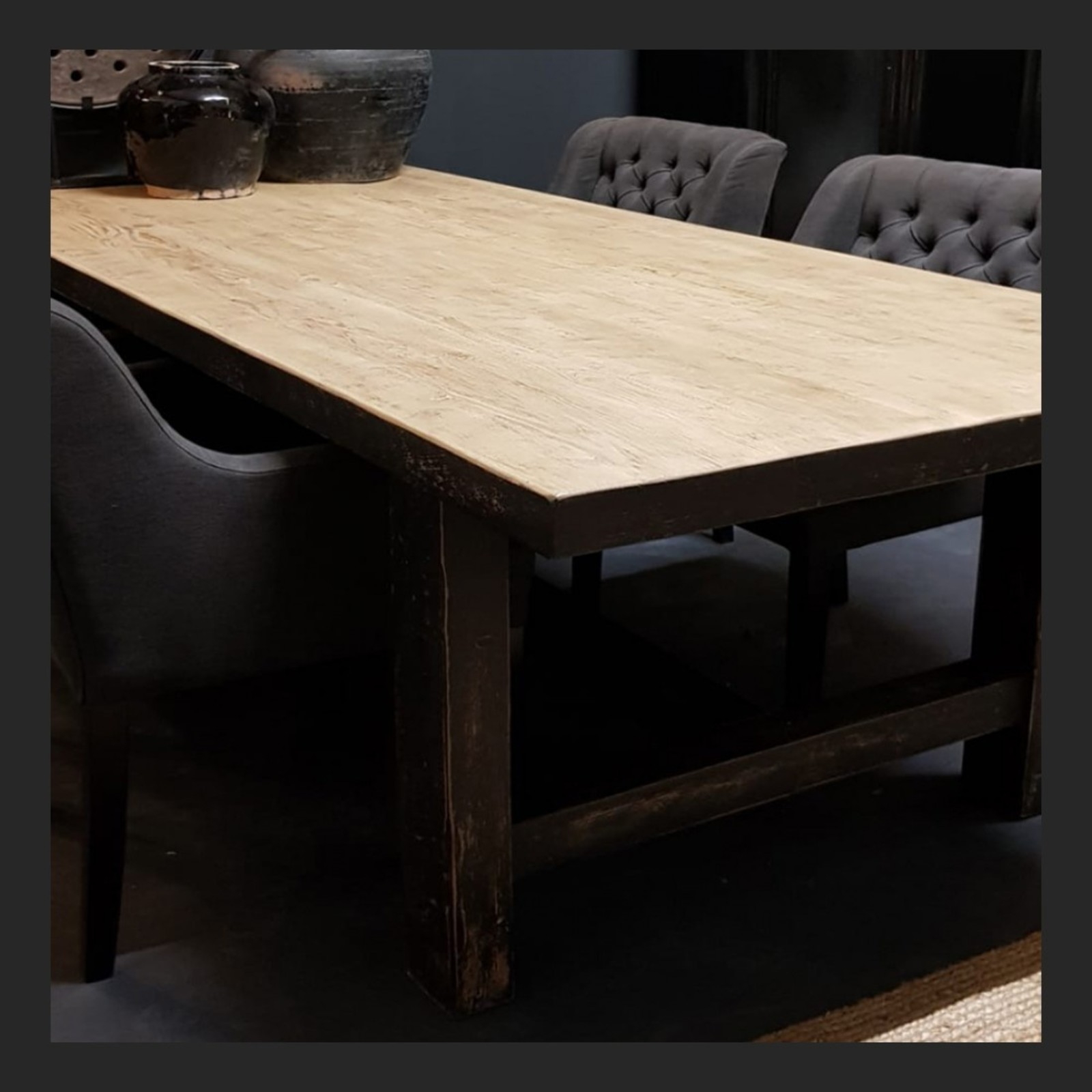 Luksa Oud houten eettafel 240x100 cm