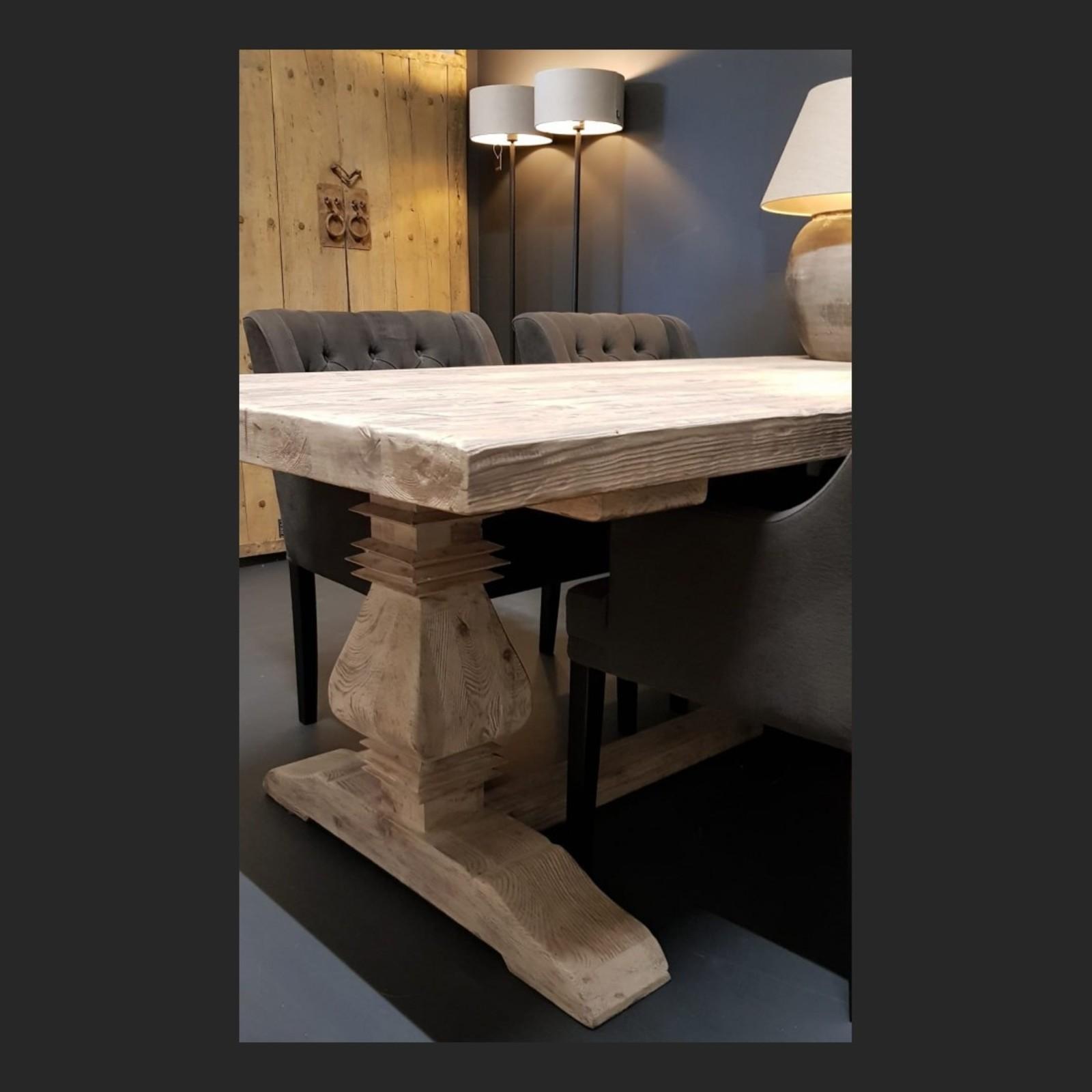 Luksa Oud houten klooster eettafel 220x100 cm