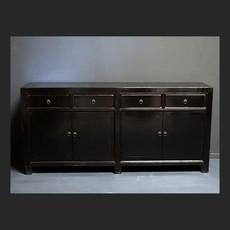 Luksa Vintage zwart hoogglans 4-deurs dressoir