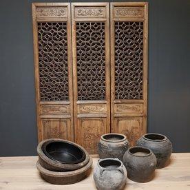 Luksa Oude walnoot houten oosterse schermen