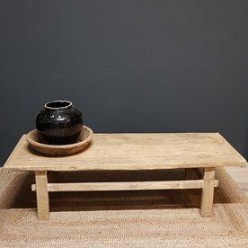 Luksa oud houten salontafel
