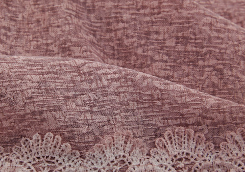 BEAUX JOURS SCARF LACE & PEARL ANTIQUE PINK