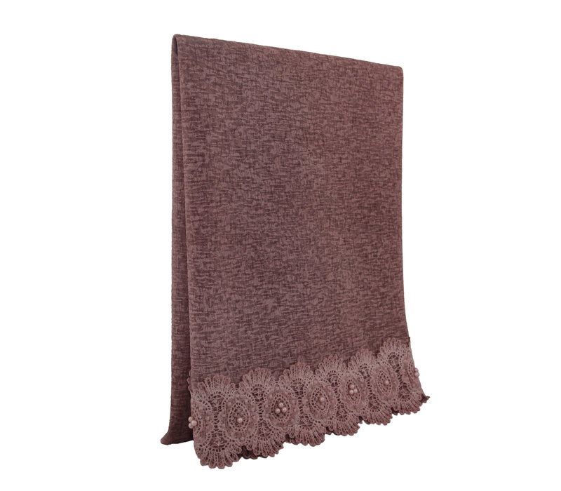 SCARF LACE & PEARL ANTIQUE PINK