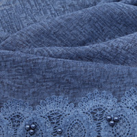 SCARF LACE & PEARL BLUE
